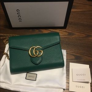 Emerald Green Gucci Wallet on Chain